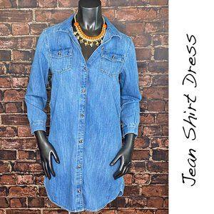 OLD NAVY Button Down Jean Shirt Dress - Girls XL